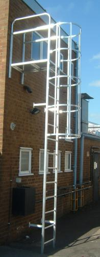 ladder-with-cage-on-side-of-building