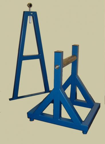 blue-metal-stands