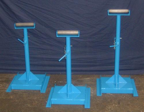 three-blue-metal-stands